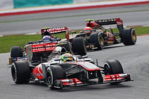 Sergio Perez kämpfte sich im Rennen bis auf den neunten Rang nach vorn
