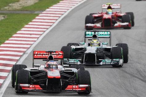 Jenson Button zeigt in Sepang eine deutliche Leistungssteigerung