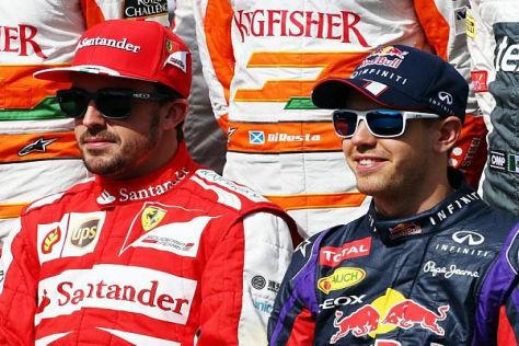 Fernando Alonso und Sebastian Vettel: Wer ist der besser Fahrer?