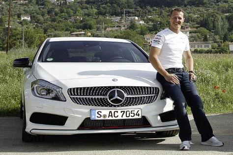 Michael Schumacher bringt sein Know-how jetzt in Mercedes-PKWs ein