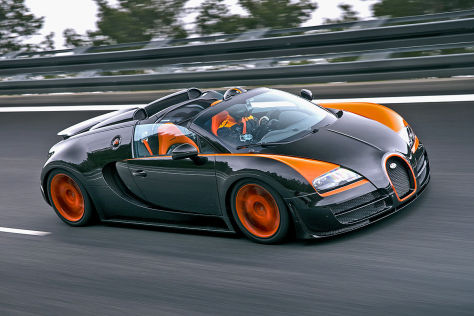 Bugatti 16.4 Veyron Grand Sport Vitesse World Record Car