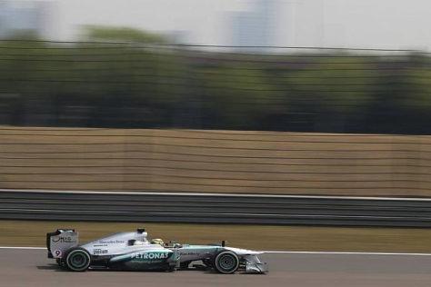 Nico Rosberg sicherte sich die Bestzeit im ersten Freien Training in China