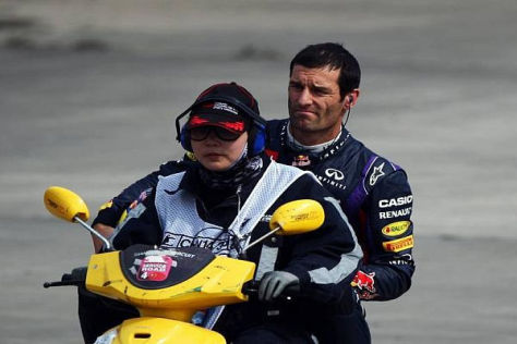 So hätte sich Mark Webber seinen Rückweg an die Box nicht vorgestellt