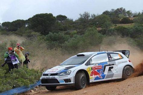 Sebastien Ogier hat bei der Rallye Portugal knapp die Nase vorn