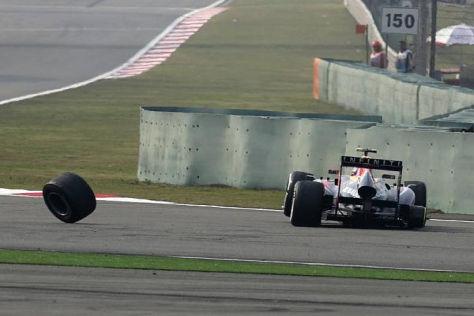 Mark Webber verlor in Schanghai ein Rad und wertvolle WM-Punkte