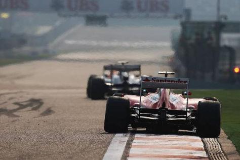 So ist's richtig: Felipe Massa ließ den Heckflügel auch bei Gelb brav zu