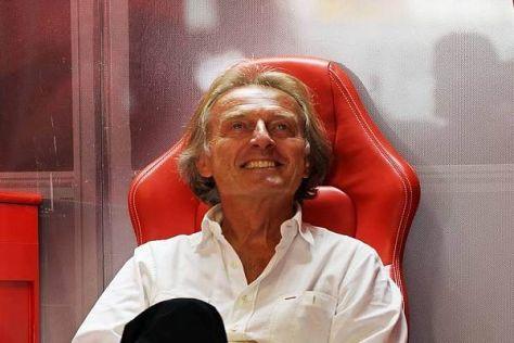 Luca di Montezemolo freut sich über den ersten Saisonsieg von Ferrari