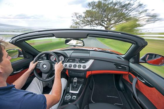 BMW Z4 Facelift Cockpit fahrend