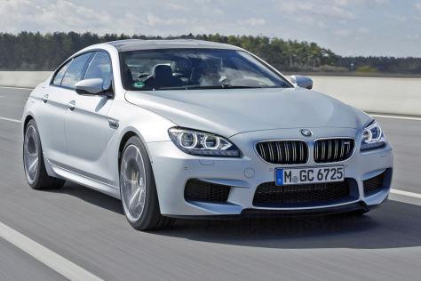 BMW M6 Gran Coupé fahrend Frontansicht