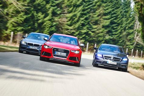 BMW M5/Mercedes CLS 63 AMG/Audi RS6 Avant: Vergleich