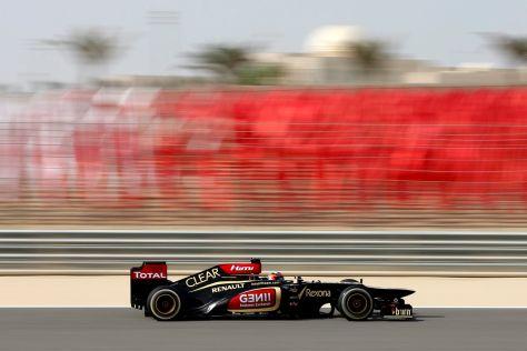 Kimi Räikkönen im Lotus in Bahrain