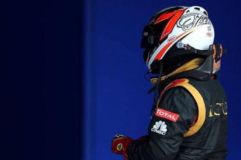 Kimi Räikkönen durfte nicht mit den Top 3 vor der Sponsorenwand jubeln