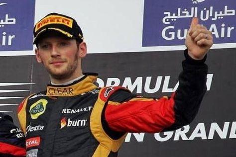Romain Grosjean hatte in Bahrain erstmals in diesem Jahr Grund zum Jubeln