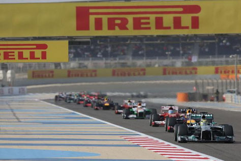 Dank der Reifen und DRS bleibt es in der Formel 1 selten bei einer Perlenschnur