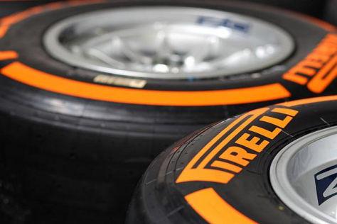 Der orangemarkierte härteste Pirelli-Reifen wird ab Barcelona modifiziert