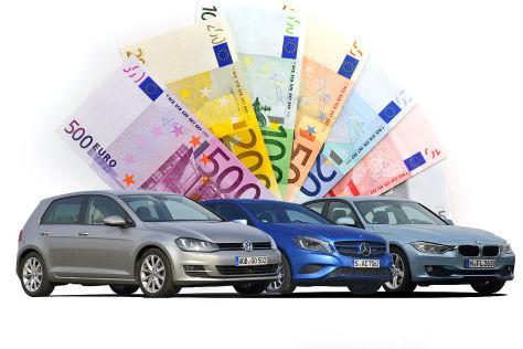 Kostenvergleich für 100 Fahrzeug-Modelle