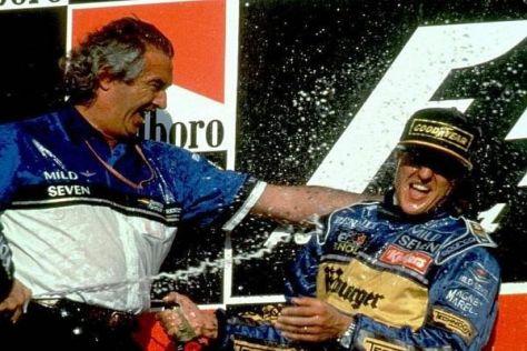 Flavio Briatore (l.) und Michael Schumacher erlebten zusammen zahlreiche Erfolge