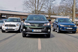 VW Tiguan/Toyota RAV4/Mini Countryman: Test
