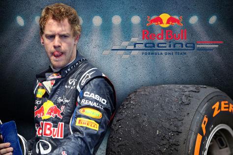 Vettel und Pirelli-Reifen