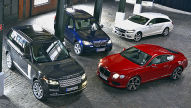 BMW, Bentley, Mercedes, Range Rover: Test