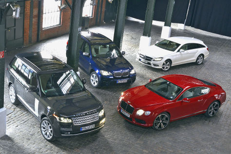 Bentley Continental BMW X5 Mercedes CLS Shooting Brake Range Rover
