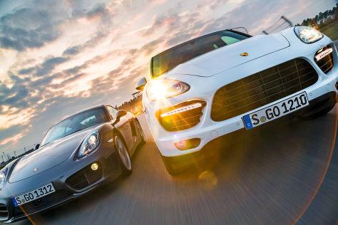 Porsche Cayenne Turbo S/Porsche Cayman S PDK: Vergleich