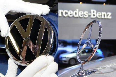Collage VW/Mercedes-Logo