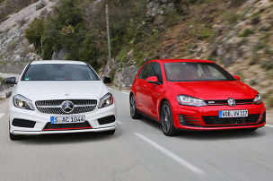 Mercedes A-Klasse/VW Golf GTI: Test