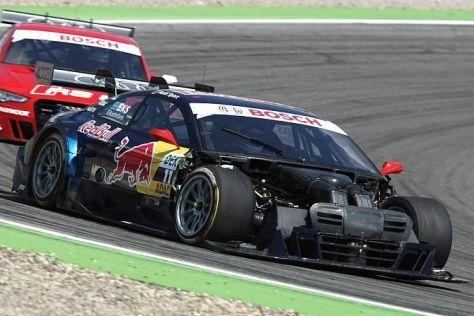 Die fehlende Haube bei Mattias Ekström ist nur ein Teil der Audi-Pech-Liste