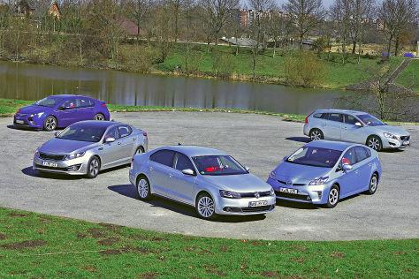 Fünf Hybridmodelle im Test