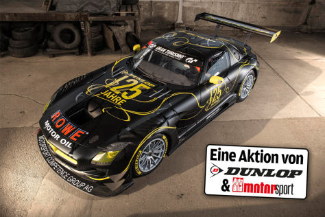 24h-Rennen_Mercedes-Benz SLS AMG GT3_Dunlop Reifen