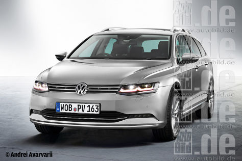 VW Passat Variant 2014 Illustration Frontansicht