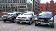 VW Touareg Hybrid/Lexus RX 450h/Mercedes M-Klasse: Test