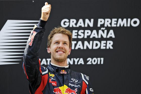 Sebastian Vettel Großer Preis von Spanien 2011