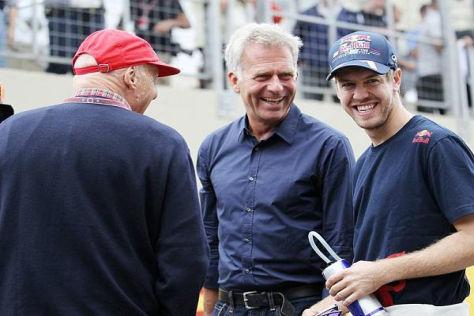 Niki Lauda würde Sebastian Vettel gerne verpflichten, sieht aber wenig Chancen