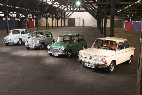 Saporpshez 965A, Fiat 600 D, Innocenti Mini 850, NSZ Prinz 4L