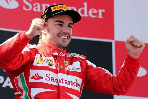 Fernando Alonso erfüllte sich den Traum vom Heimsieg in Barcelona im Ferrari