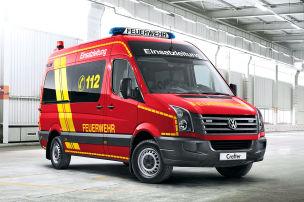 VW Crafter 35 Kombi als Einsatzleitwagen (ELW) für die Feuerwehr