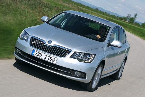 Robin Hornig am Skoda Superb Greenline