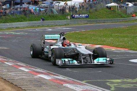 Michael Schumacher durfte es auf der Nordschleife nicht richtig fliegen lassen