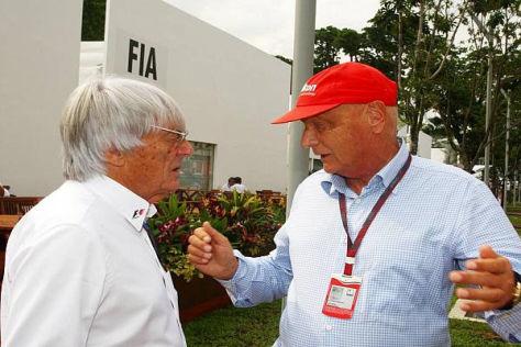 Bernie Ecclestone glaubt, dass Niki Lauda Mercedes zurück in die Spur bringen kann