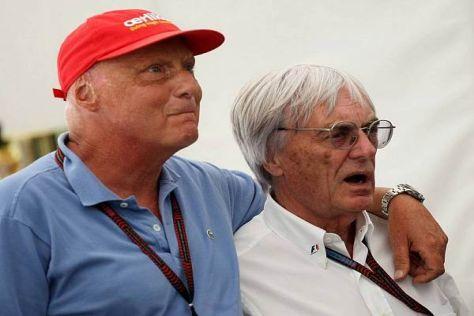 Alte Freunde: Legende Niki Lauda mit Formel-1-Boss Bernie Ecclestone