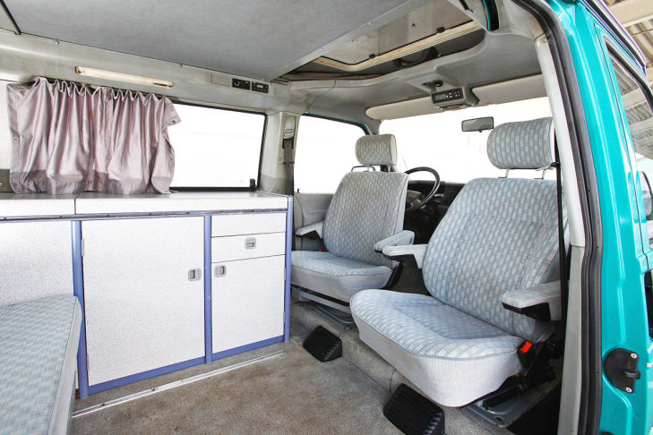 vw t4 california im test bilder. Black Bedroom Furniture Sets. Home Design Ideas