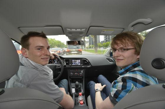 Die SEAT Urban Challenge-Gewinner René und Michael