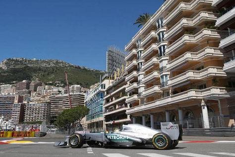 Nico Rosberg sicherte sich die Bestzeit im ersten Freien Training in Monaco