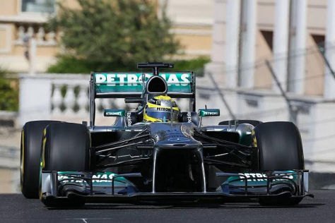 Nico Rosberg war auch am Nachmittag im Fürstentum der Schnellste