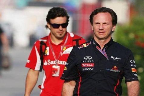 """Fernando Alonso und Chrsitian Horner streiten um den Titel """"schlechter Verlierer"""""""