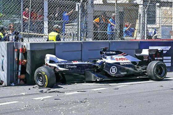 Unfall von Pastor Madonado beim GP Monaco 2013
