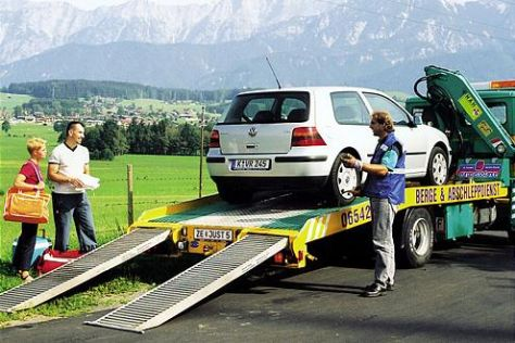 Autotransport nach Unfall
