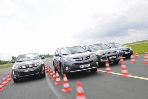 Vier Kompakt-SUVs im Vergleich